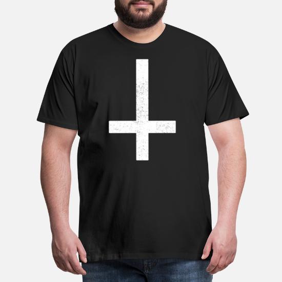Halloween Kruis.Valse Kruis Satan Duivel Christus Halloween Mannen Premium T