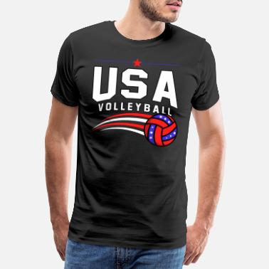 Pallet Volleyball, block volleyball, university - Men's Premium T-Shirt