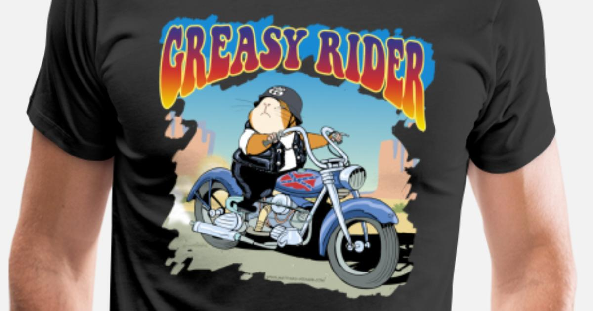 Biker Get Greasy Mens T-Shirt