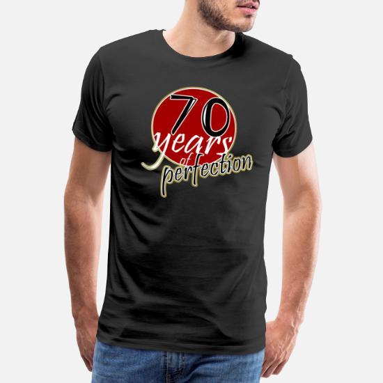 70 Anni 70 T Shirt Regalo Di Compleanno Maglietta Premium Da Uomo Nero