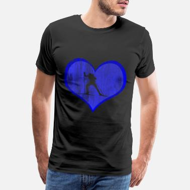 I Love Snow Biathlon competition - Men's Premium T-Shirt