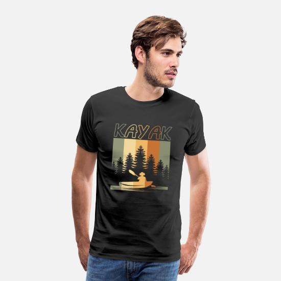 Nature T-Shirts - Kayaking nature - Men's Premium T-Shirt black