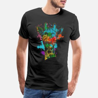 Nationalpark Giraffe Zoo - Männer Premium T-Shirt