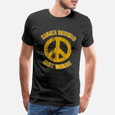 Headphones Music peace - Men's Premium T-Shirt