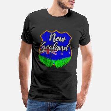 Flag New Zealand nation - Men's Premium T-Shirt