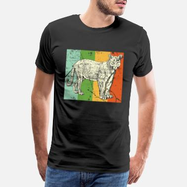 Namibië Leopard Cougar tooth black jungle - Mannen Premium T-shirt