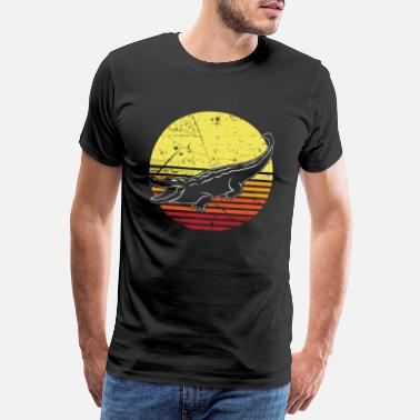 Alligator Krokodil Crocodile Fluss Amazonas Jungle - Männer Premium T-Shirt