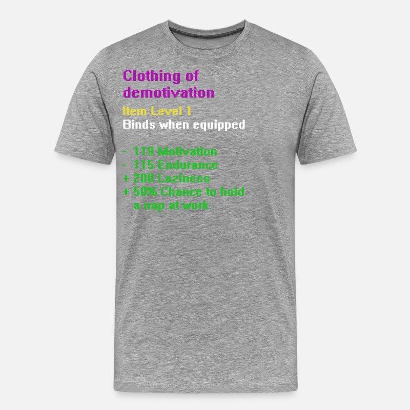 d0f6d453 Klær av demotivation Premium T-skjorte for menn | Spreadshirt