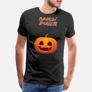 Halloween Maternity Pumpkin Smuggler Pregnancy Announcement Halloween - Men's Premium T-Shirt