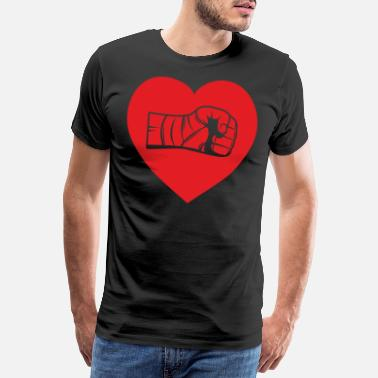 Frequency Boxing with a heart - Men's Premium T-Shirt