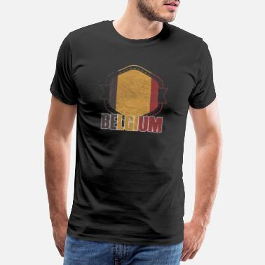 National Colours Belgium national colors nation - Men's Premium T-Shirt