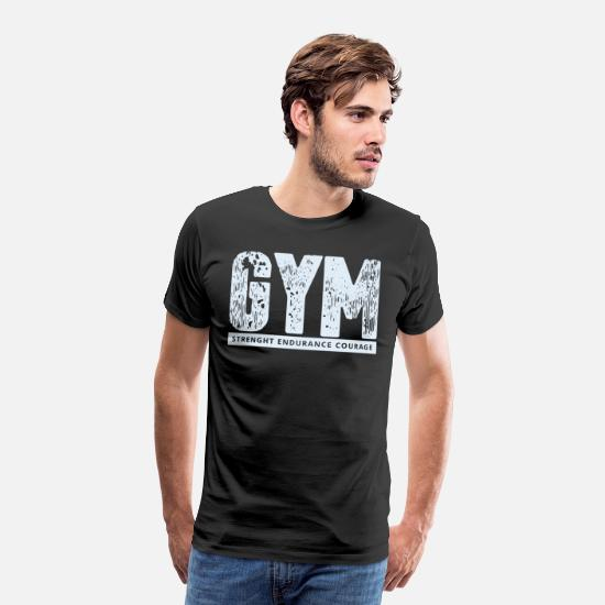 Gym T-skjorter - GYM - Premium T-skjorte for menn svart