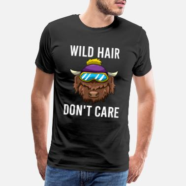 Dairy Cow Wild Hair Don't Care Hochland Kuh Rind - Men's Premium T-Shirt