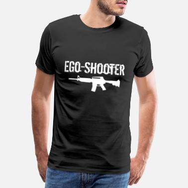 Ego Shooter Ego Shooter lettering - Men's Premium T-Shirt