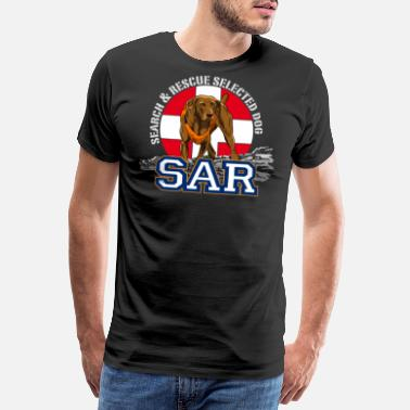Search Dog search and rescue dog 1 - Men's Premium T-Shirt