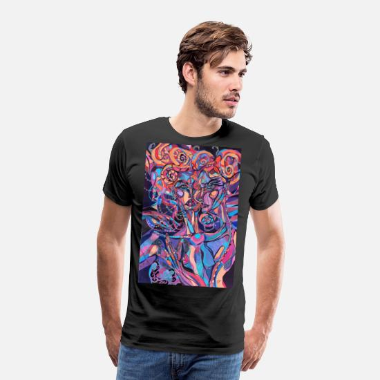 Haven T-shirts - Ond kunst abstrakt - Premium T-shirt mænd sort