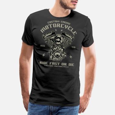 f2299ad16 Motocykl Konwersja silnika motocyklowego Chopper Custom Engine - Premium  koszulka męska