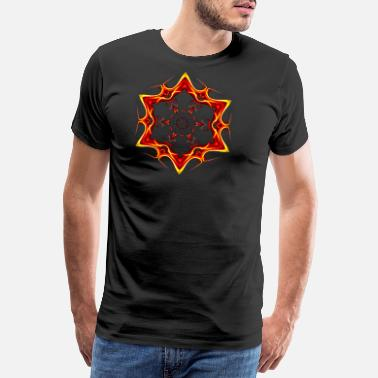 Six Six Six Red Neon Star - Men's Premium T-Shirt