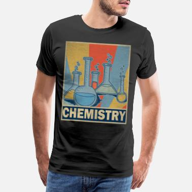University Professor Chemistry Teacher Retro Vintage Gift Science - Men's Premium T-Shirt
