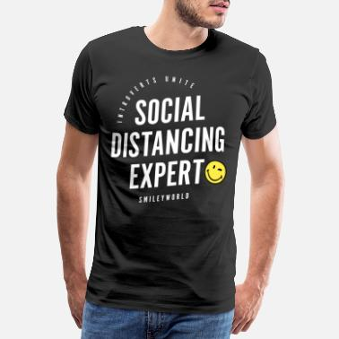 SmileyWorld Social Distancing Expert - Men's Premium T-Shirt