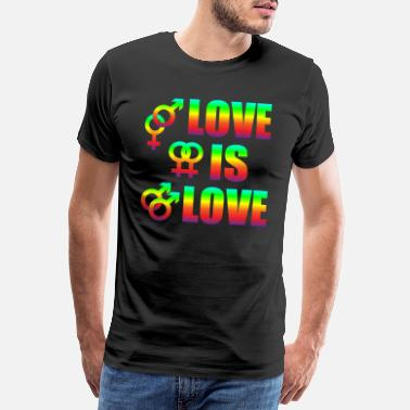Diverse Love Is Love Gay Lesbians Love Freedom - Premium T-shirt herr