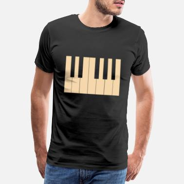Treble Clef Piano Piano Keyboard Instrument Keys Music - Men's Premium T-Shirt