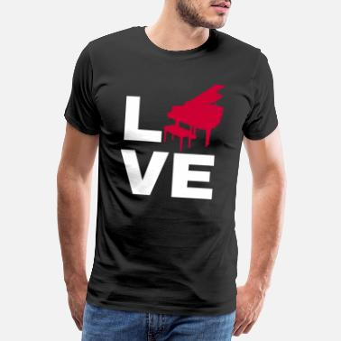 Ala Love piano gift grand piano piano keyboad - Camiseta premium hombre