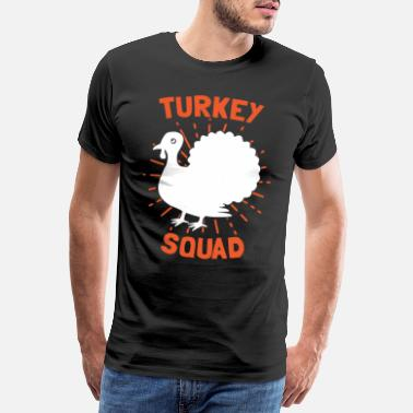 Oca Turkey Squad Turkey Team Thanksgiving Thanksgiving - Maglietta Premium da uomo