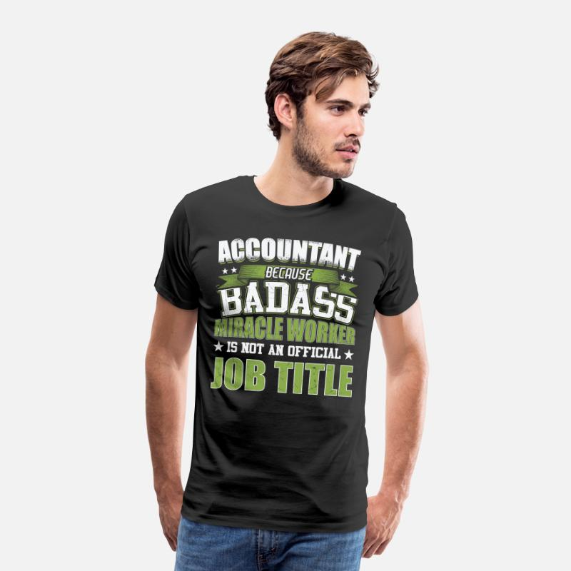 Accountants T-Shirts - Functie Accountants - Mannen premium T-shirt zwart