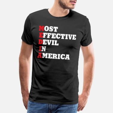 Black Stars Media Most Effective Devil In America T Shirt - Männer Premium T-Shirt