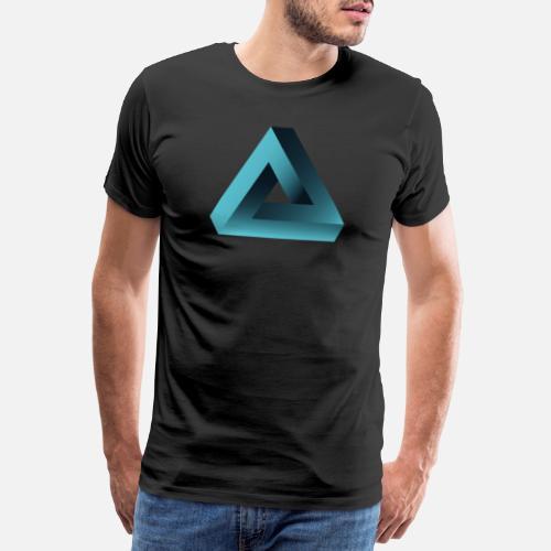 ... ilusión óptica illuminati pirámide ne - Camiseta premium hombre negro.  ¿Quieres personalizar el diseño  8a5f95d683c4e