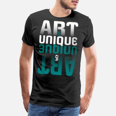 Typography Art Is Unique Pop Art Typography - Men's Premium T-Shirt