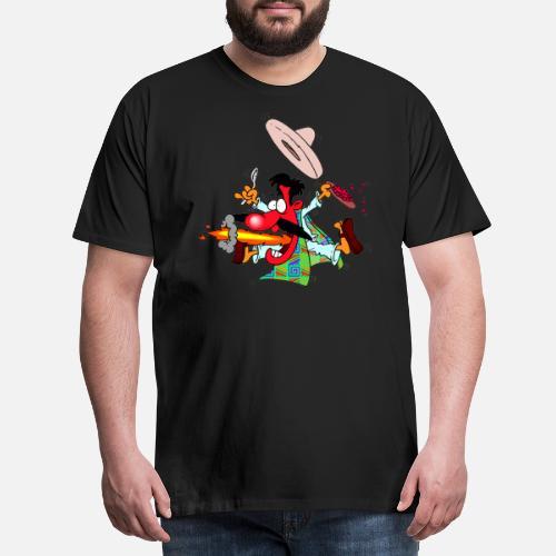 Caliente comida mexicana sombrero mexicano niños chile - Camiseta premium  hombre. detrás. detrás. Diseño. delante. delante 5799b7b6682