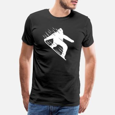 People Snowboarder Fast - For Skiers - Männer Premium T-Shirt