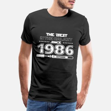 1986 The best in the galaxy since October 1986 - Men's Premium T-Shirt