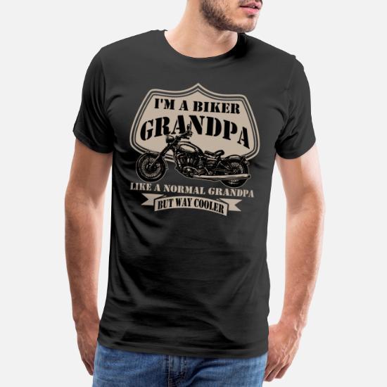 Uomo I Am A Biker Grandpa Regalo per Nonno Motociclista Maglietta