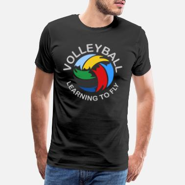 Logo Pallavolo VolleyBall (Learning To Fly Edition) - Maglietta Premium da uomo