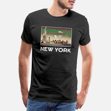 Klassen New York Stadt Skyline USA Roadtrip Trip US - Männer Premium T-Shirt