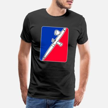 Major League Airbrush Major League - Männer Premium T-Shirt