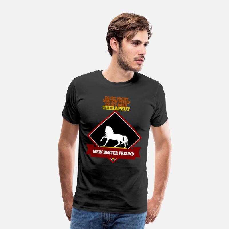 pferd shirt mein bester freund reiter geschenk m nner premium t shirt spreadshirt. Black Bedroom Furniture Sets. Home Design Ideas