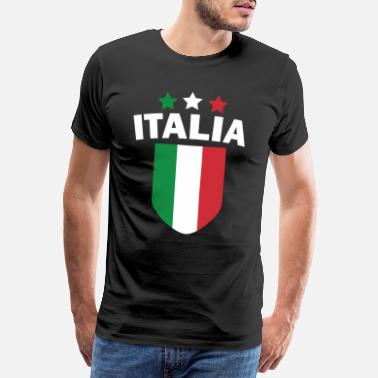 Countries Italy Italian Flag Country Nation Funny - Men's Premium T-Shirt