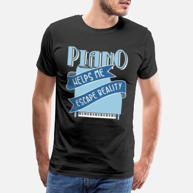 Funny Piano Piano Piano Grand Piano Funny Instrument Music - Men's Premium T-Shirt