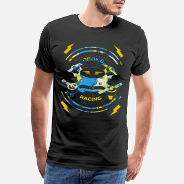 Digital Spreadshirt T-Shirt | Drone pilot drone race - Men's Premium T-Shirt