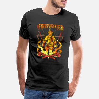 Fire Rescue Firefighter Fire Department Fire Engine - Men's Premium T-Shirt