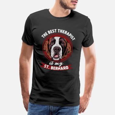 Doggie Dog Sweet Saint Bernard - Men's Premium T-Shirt