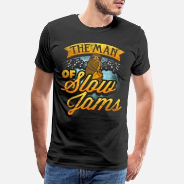 Relaxe Chill Sloth slow jams music - Men's Premium T-Shirt