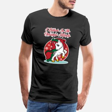 Pink Unicorn for Christmas - Christmas Miracle - Men's Premium T-Shirt