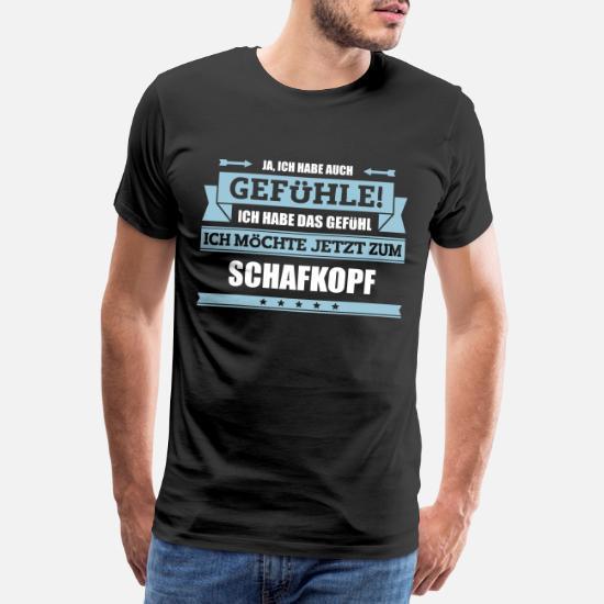Lustiger Schafkopf Spruch Männer Premium T Shirt Spreadshirt