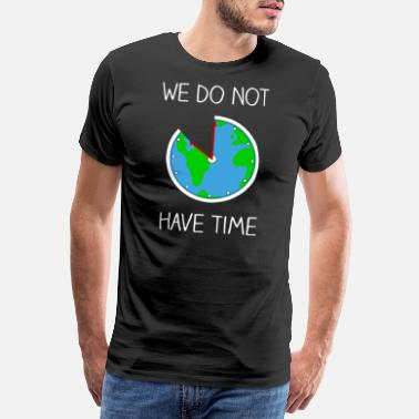 Fridays For Future Fridays For Future - World globe as a clock - Men's Premium T-Shirt