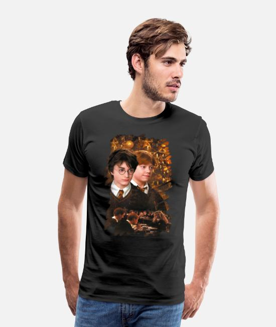 Movie T-shirts - Harry Potter Ugly Christmas Harry & Ron - Premium T-shirt mænd sort